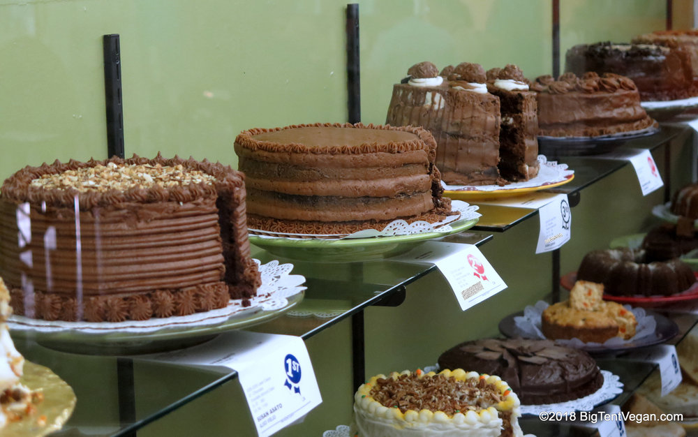 Some of the competition (please note: most or all of these cakes, except susan's, are not vegan)