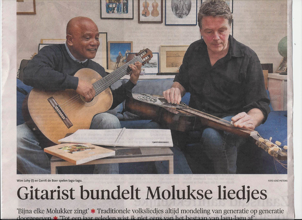 Met Wim Lohy in het Noord Hollands dagblad 20 feb '14