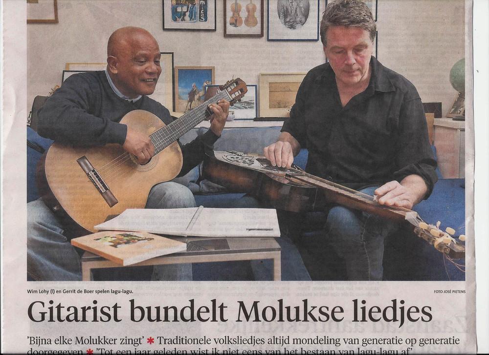 Met Wim Lohy in het Noord Hollands dagblad 20 feb '14
