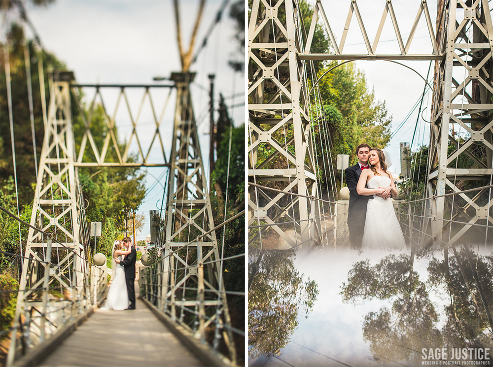 26 Spruce Street Suspension Bridge Bride Groom Portrait.jpg