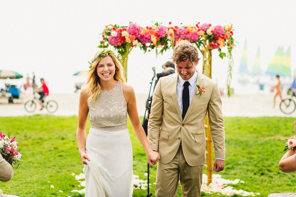 Catamaran Wedding Photo