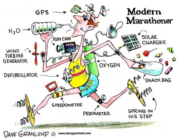 Running Cartoon Marathon Marathon Running
