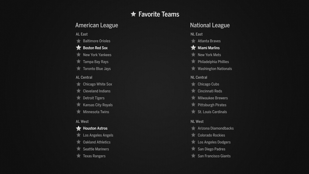 Favorite Team Preferences