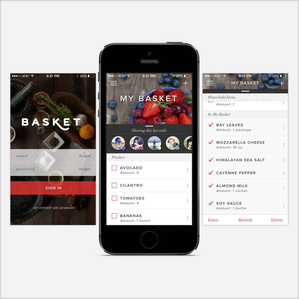 Basket App Design