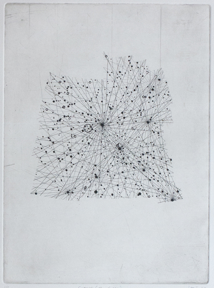 Cygnus Etching on paper. 2011.