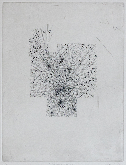 Orion Etching on paper. 2011.