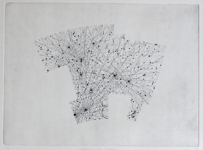 Centaurus Etching on paper. 2011.