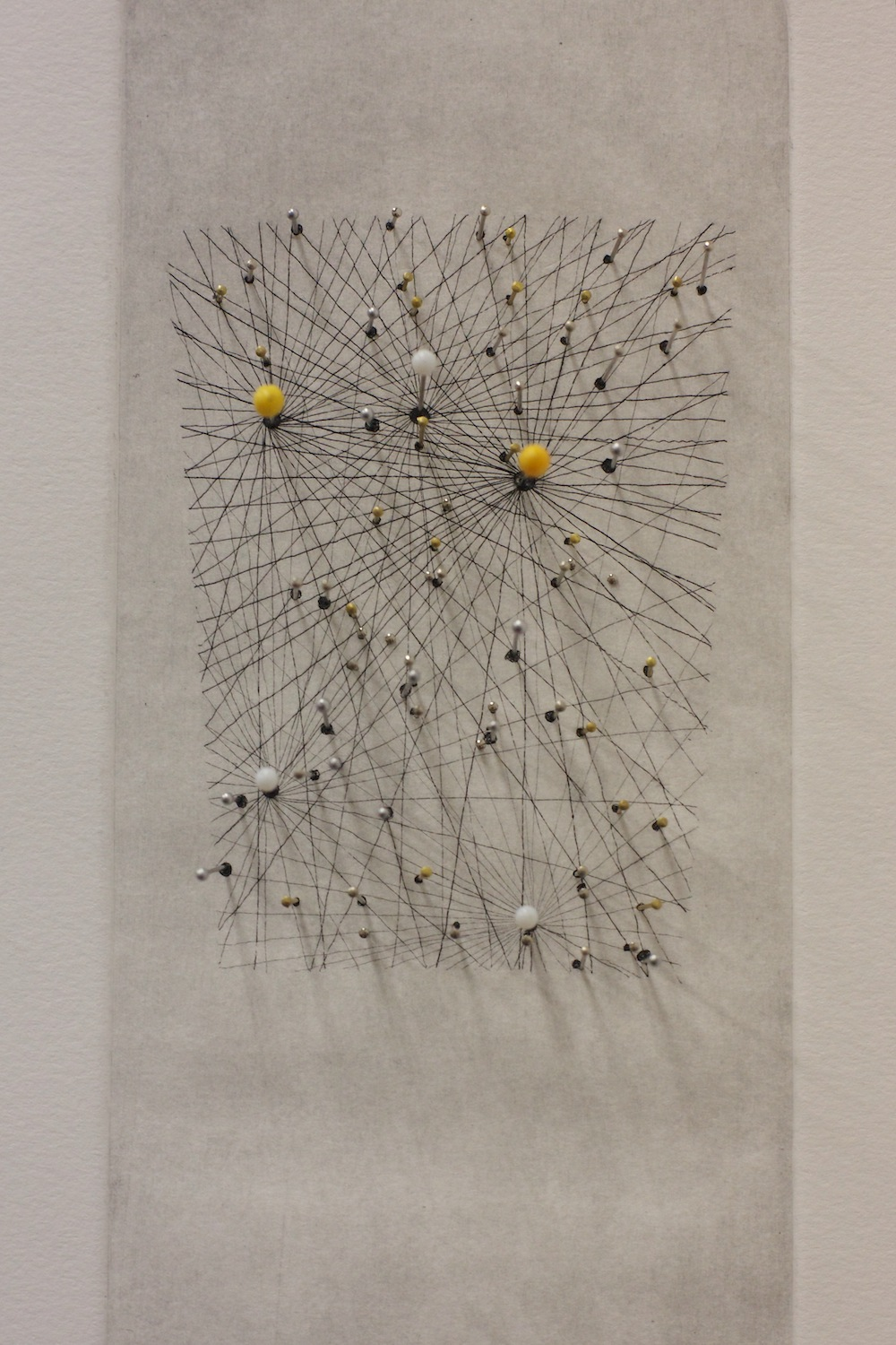 Microscopium Etching and pins on paper. 2011.