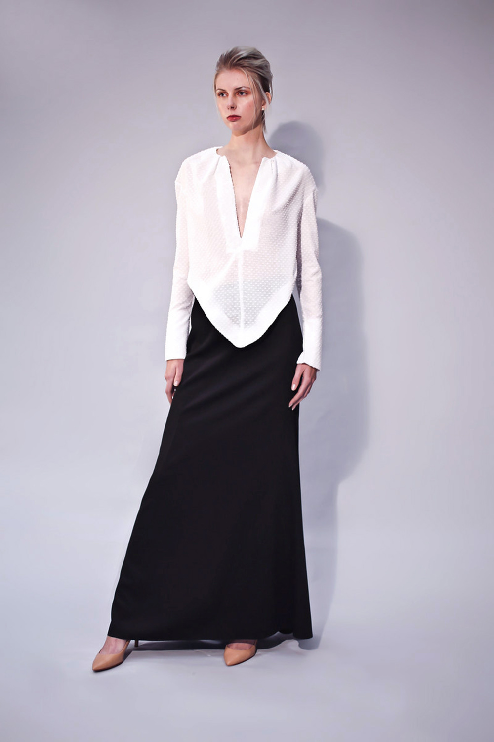 HABENARIA RADIATA TOP AND LONG SKIRT