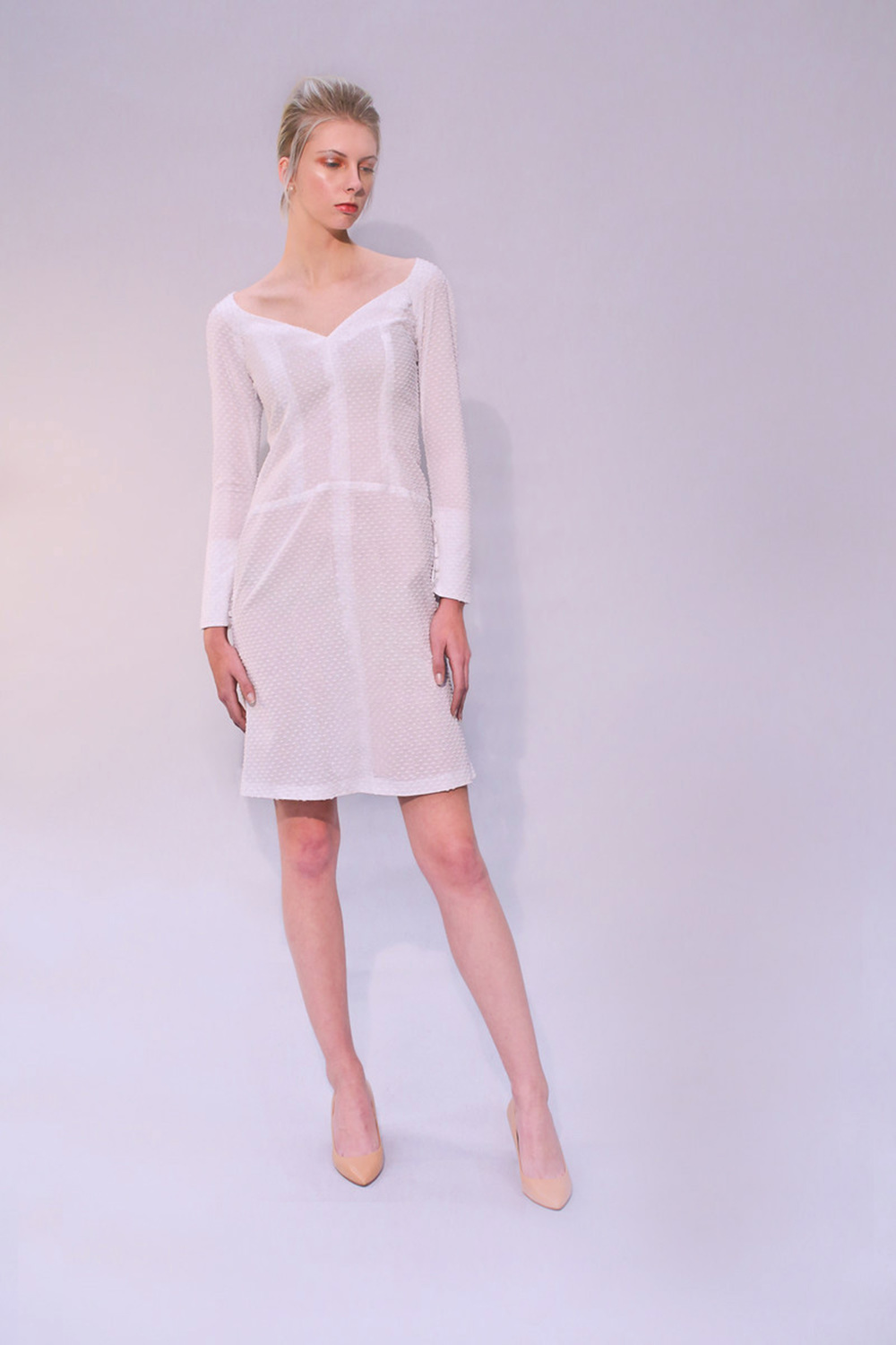 GHOST ORCHID DRESS WHITE