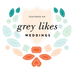 Featured on Best Wedding Blog Grey Likes Weddings