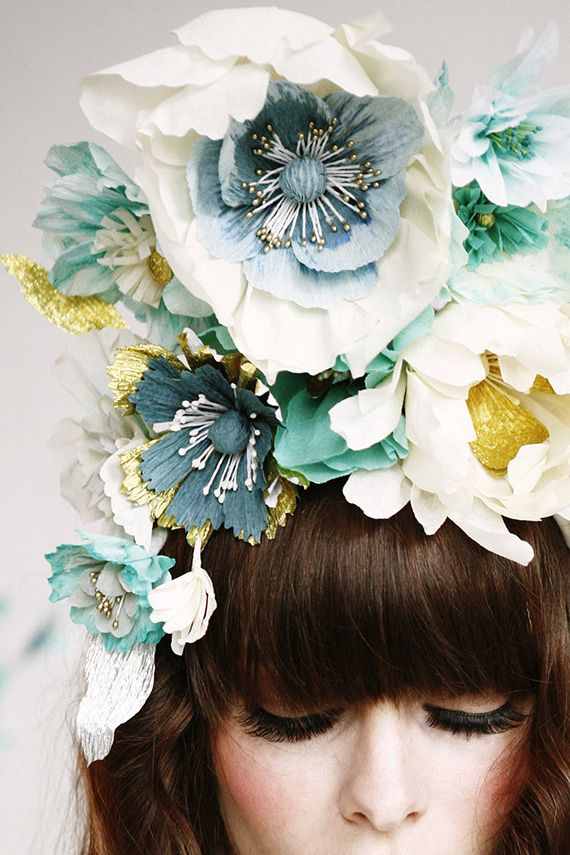 Paper Flower Headdress