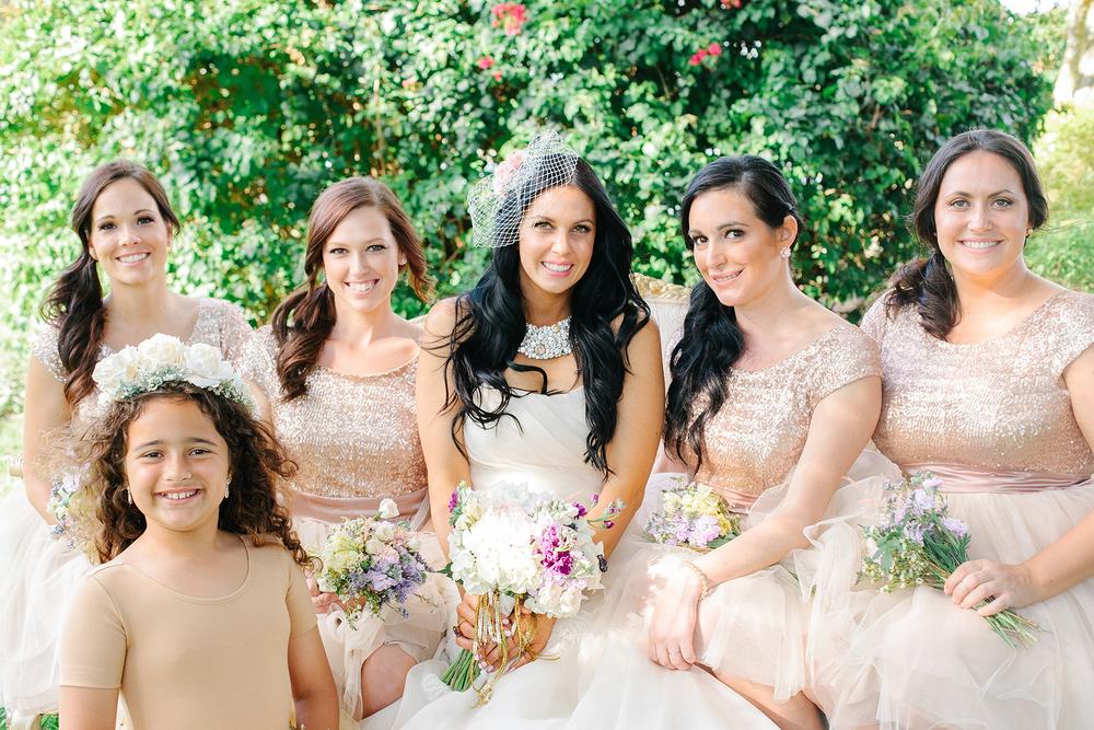 Gorgeous Garden Bridal Party via Oh Hello Events