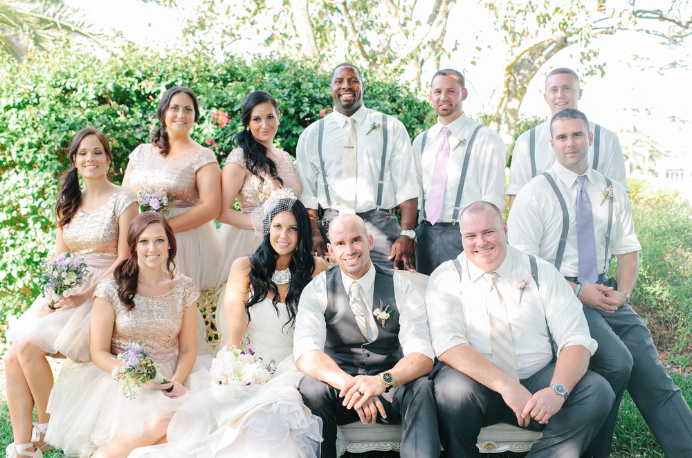 Modern Vintage Bridal Party via Oh Hello Events, Tampa, FL