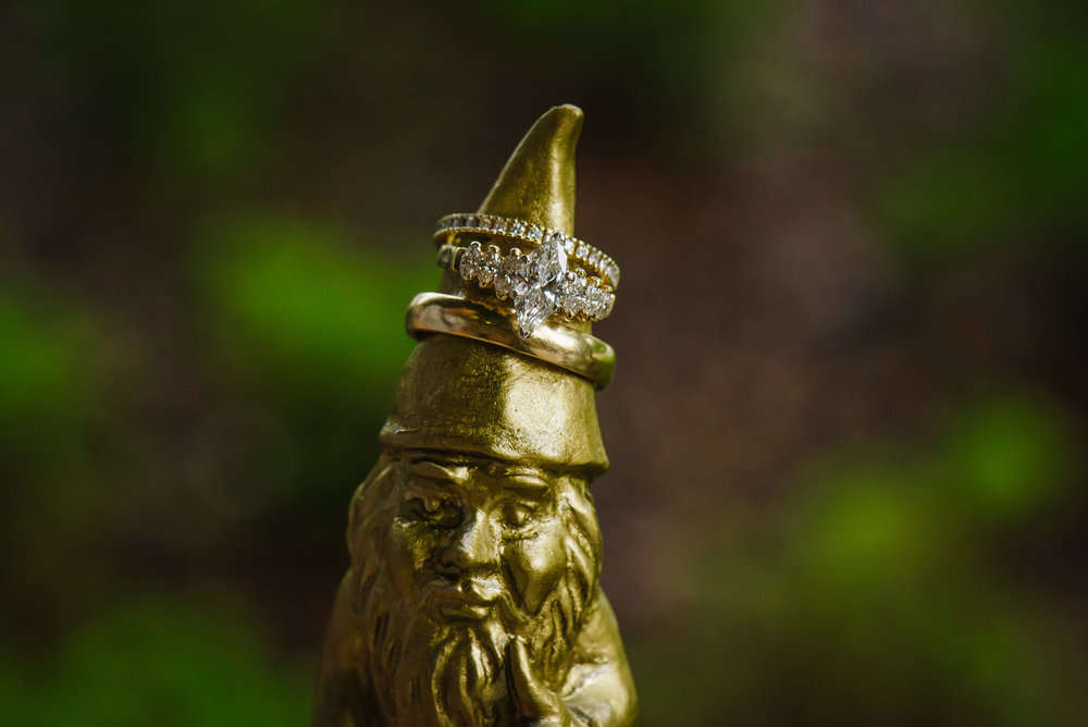 Garden Gnome Engagement Ring Shot