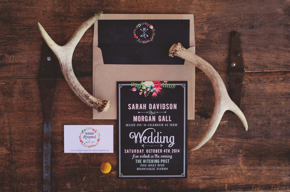 Rustic Wedding Invitations by Oh Hello Events