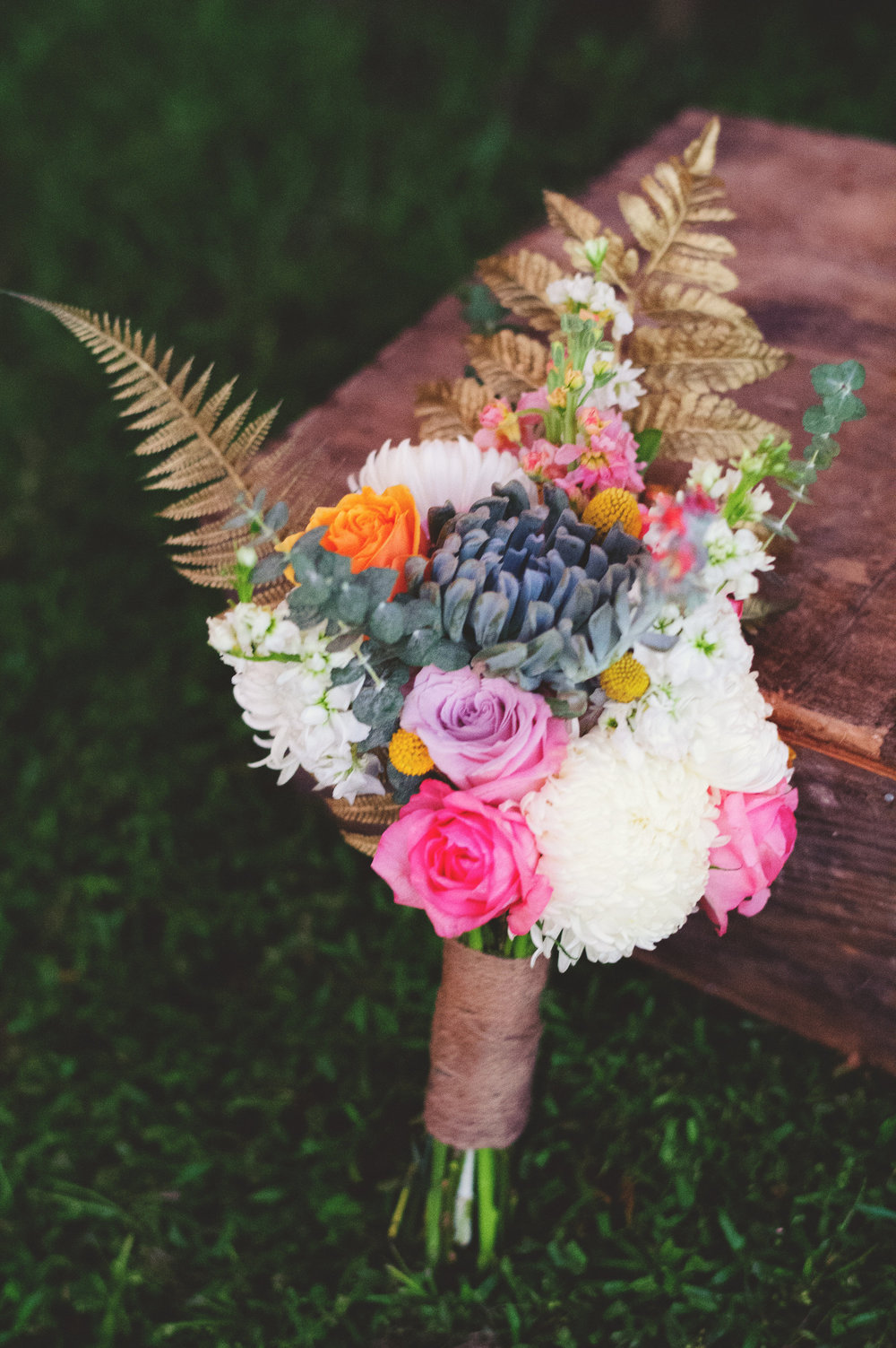 Rustic Wedding Bouquet designed by Oh Hello Events
