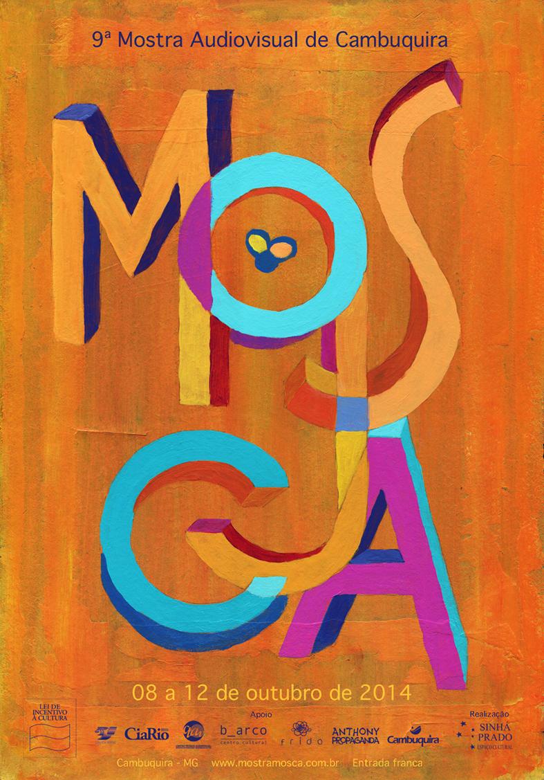 Cartaz da MOSCA 9 criado pelo ilustrador Mateus Rios