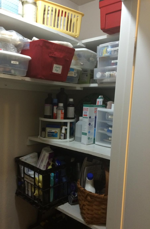 Cleaning/medicine/storage closet