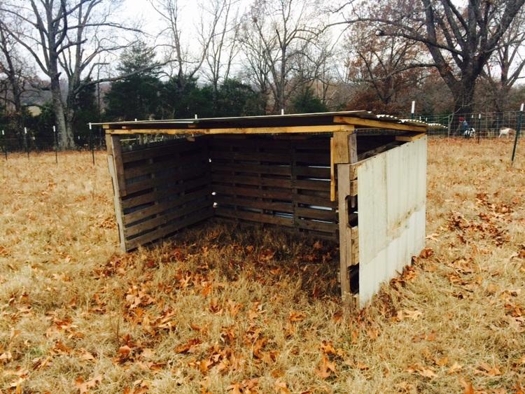 diy goat shelter — brood farm