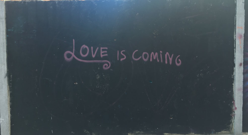 Love Is Coming, Unknown Artist, Figueres, Spain.
