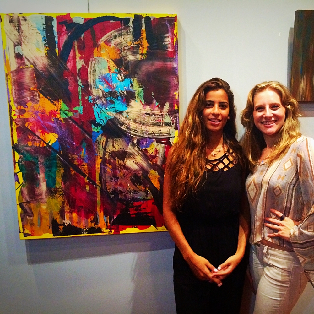 Erika Rachel and student at Body Graphics Reception 2014.jpg