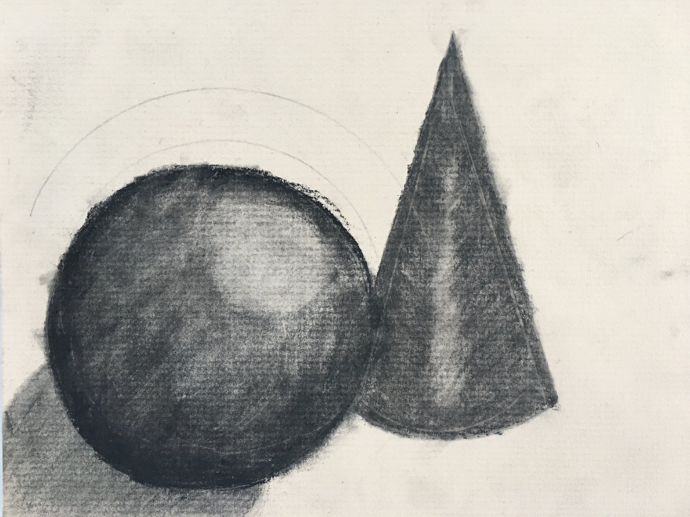 Study in Shading- Charcoal