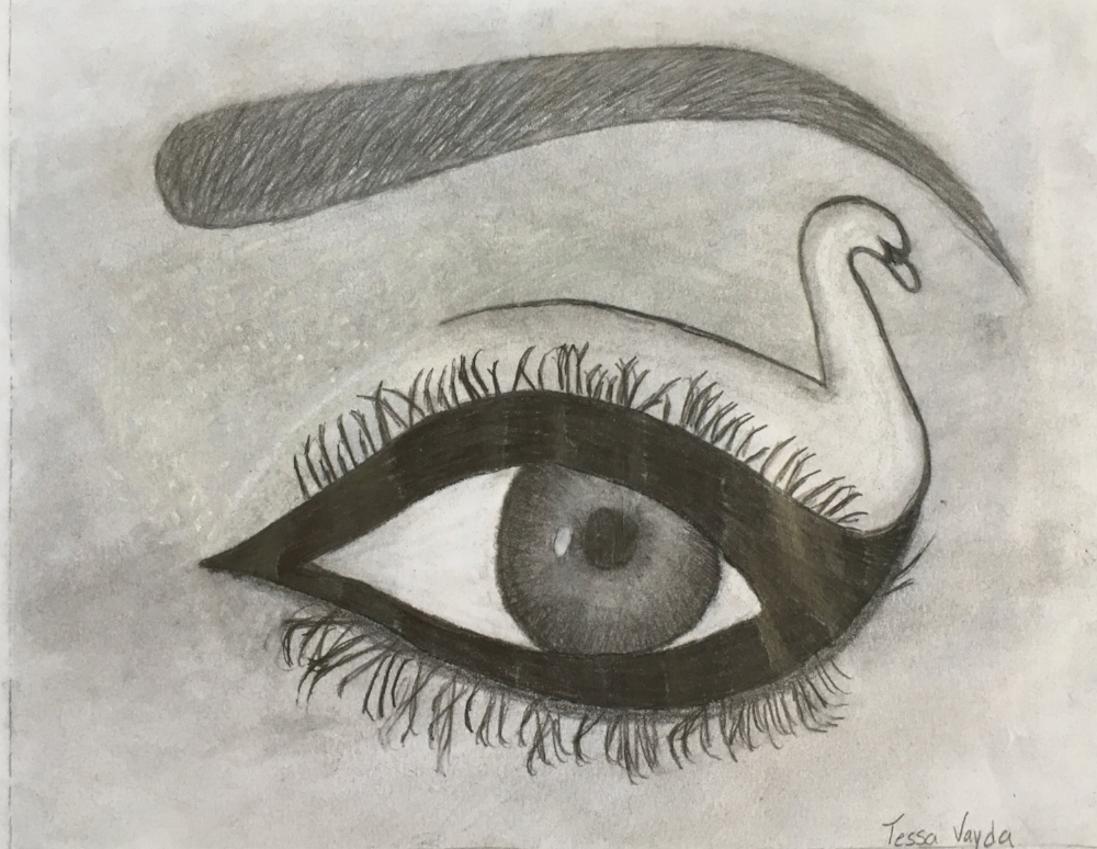 Fashion Eye- Pencil and Charcoal on Paper