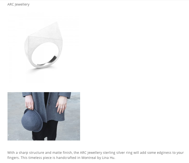 Arc Jewellery Straightedge Majuscule Ring Flanelle Mag.png