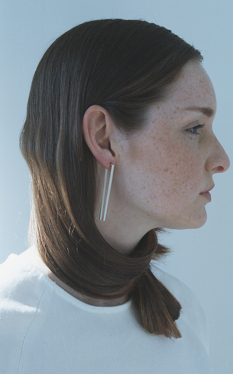 Arc Jewellery - Linearity lookbook - Theory Earring