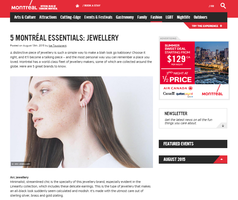 Tourisme Montreal - Arc Jewellery