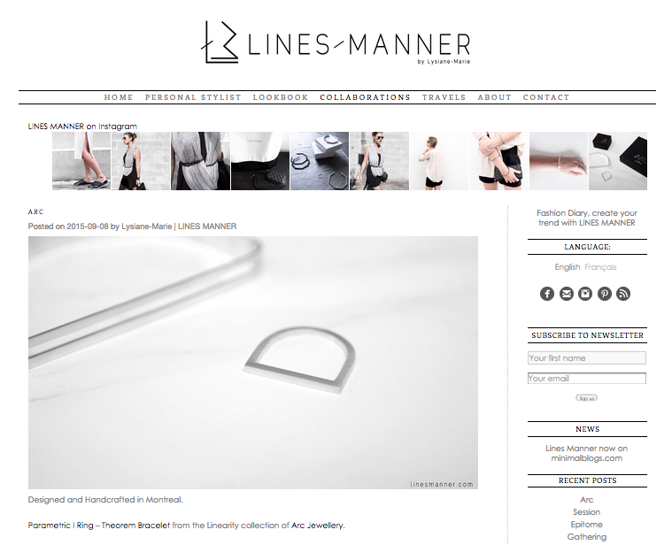 Arc Jewellery - Lines Manner