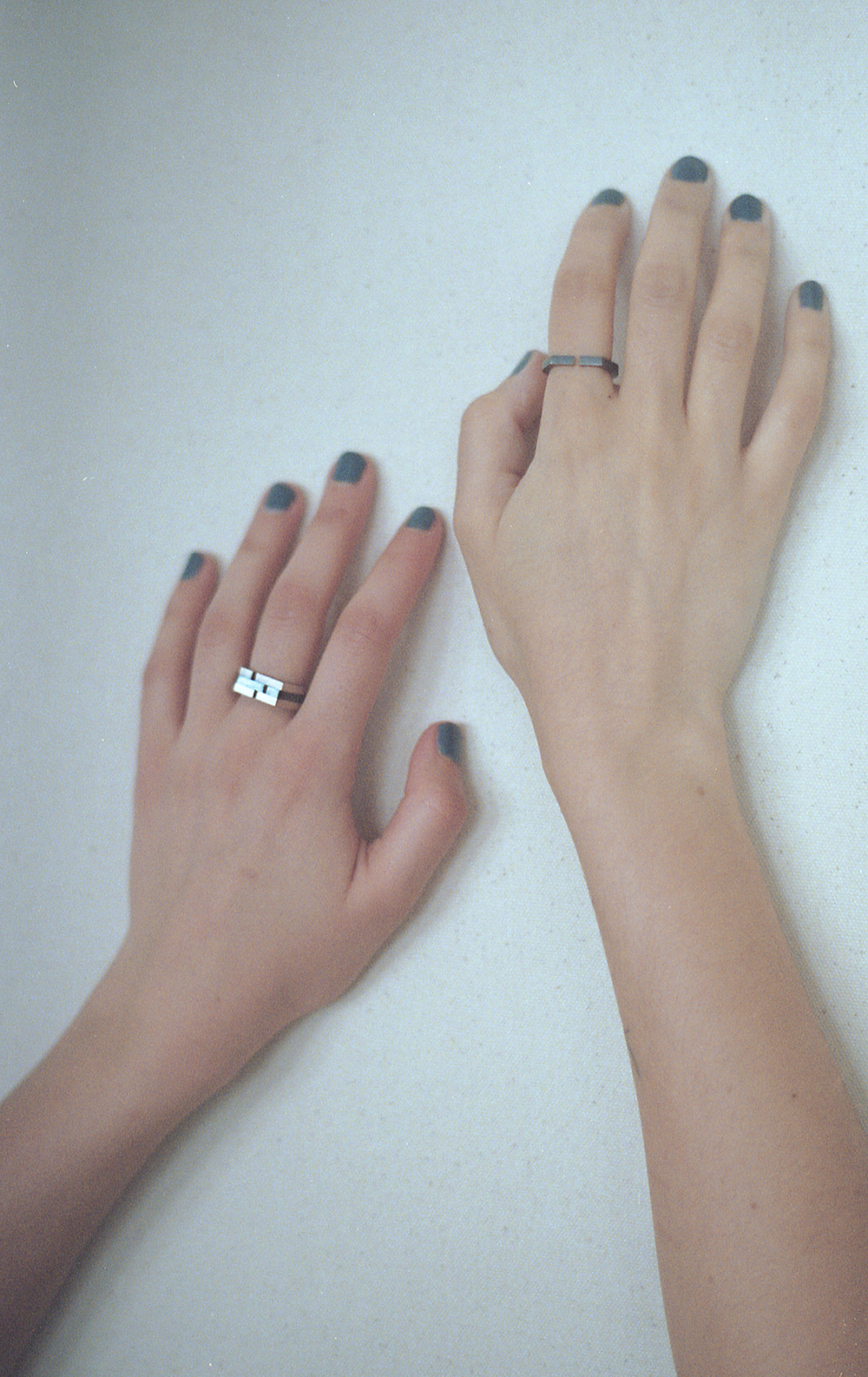 Arc Jewellery - Vacancy Lookbook - Minuscule Gap Rings 2