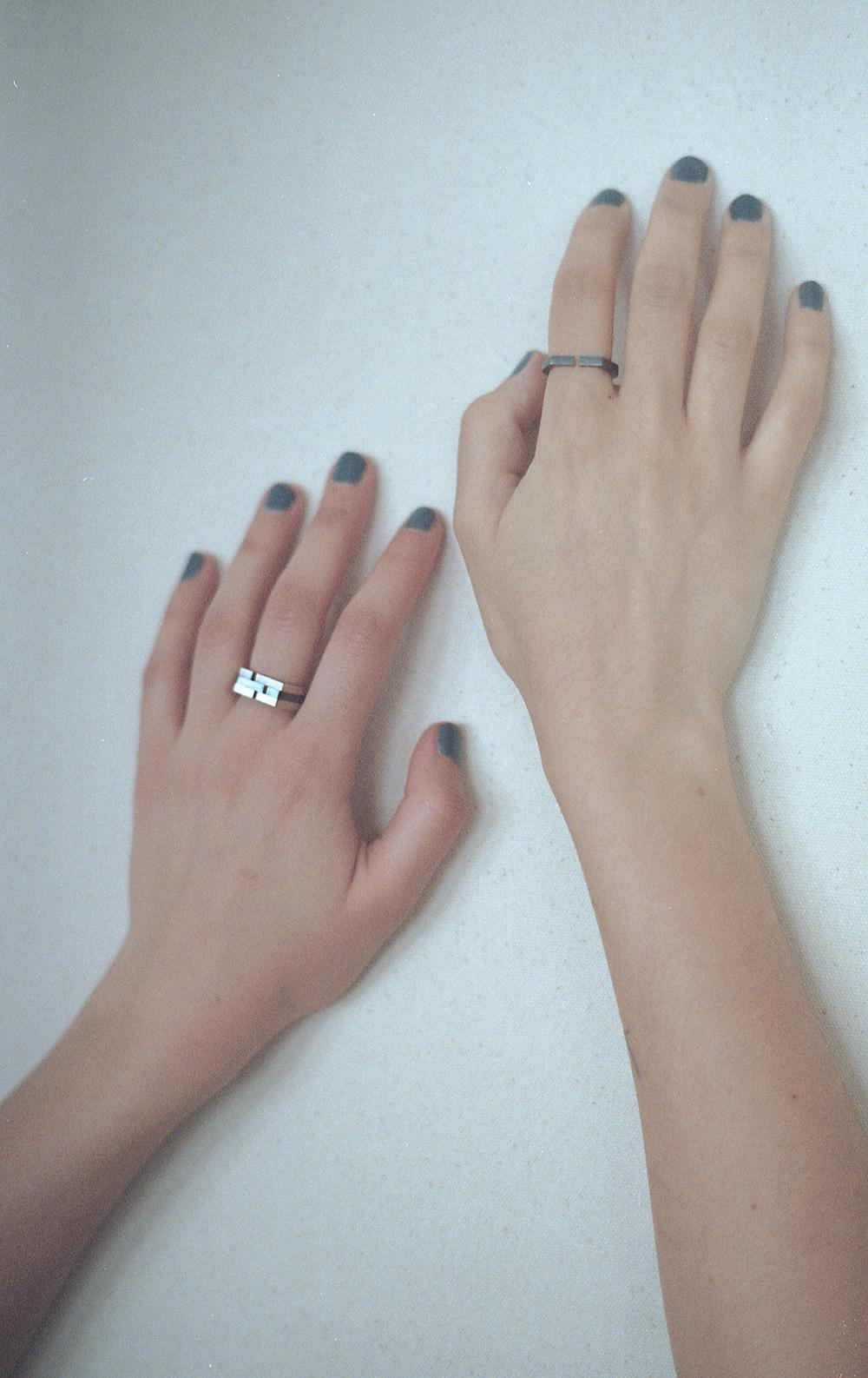 Arc Jewellery - Vacancy Lookbook - Minuscule Gap Rings 2
