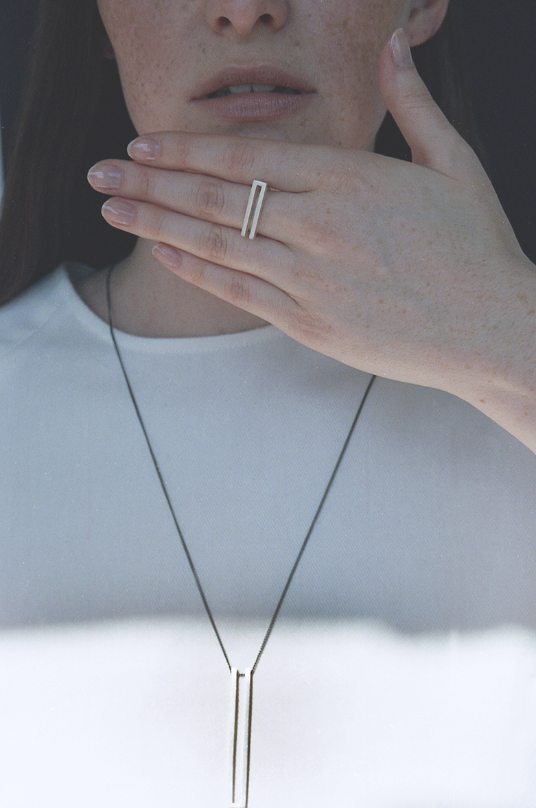 Arc Jewellery - Linearity lookbook - Theory necklace - Theory ring