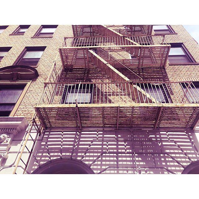 . . . . . #nyc #shadow #fireescape #building #streetphotography #nycc #streetsofnyc #nycstreets #intersectinglines #shadowart