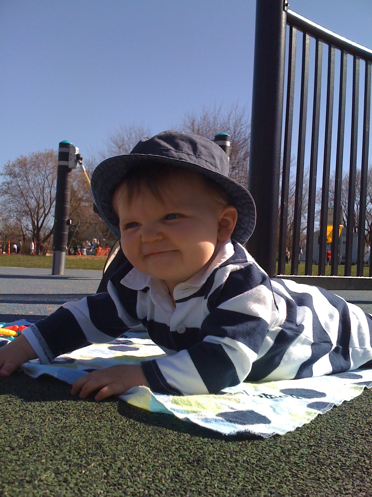 Carter hanging out at the park