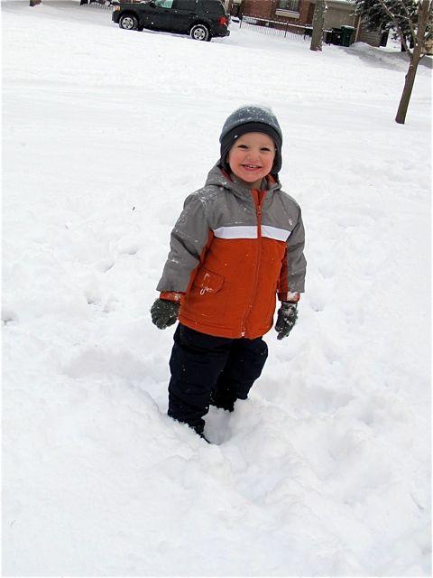 evan in snow