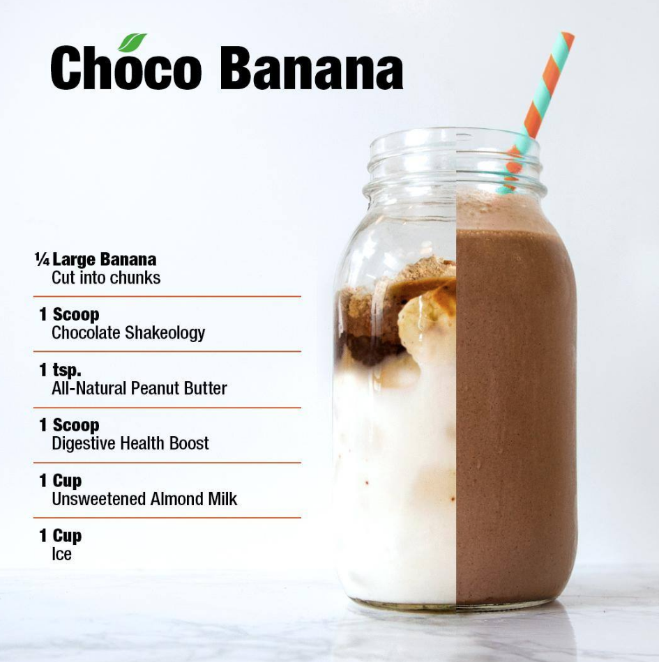 Here's a yummy blend, full of chocolate peanut buttery goodness! Add a scoop of Digestive Health for an extra boost of belly-friendly nutrients.