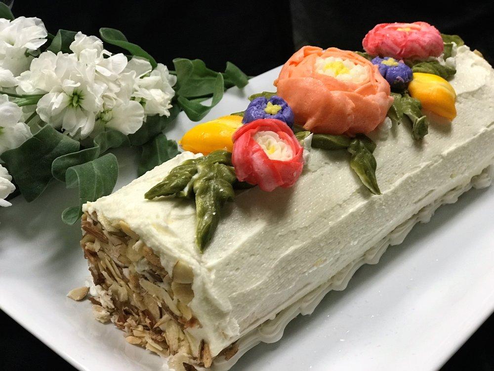 Summer Garden Cake Roll