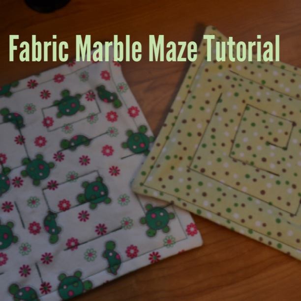 Fabric Marble Maze Tutorial My