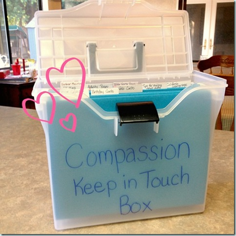 Compassion Keep In Touch Box