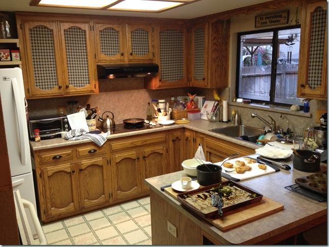 kitchen after dinner