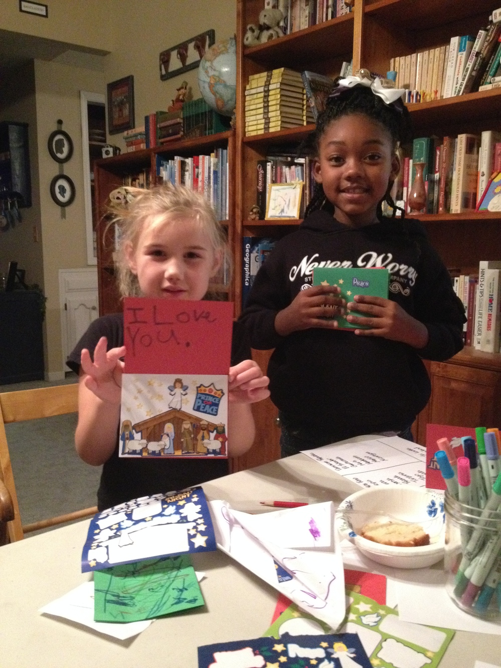 Hosted a Christmas card making party for unsponsored Compassion kids