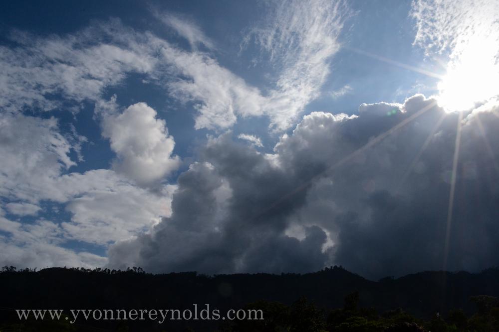 Beautiful cloud filled sky