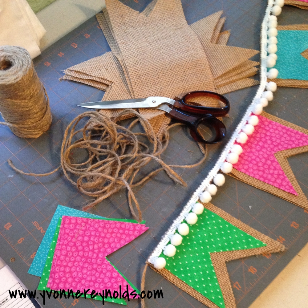 Spring Burlap Bunting supplies