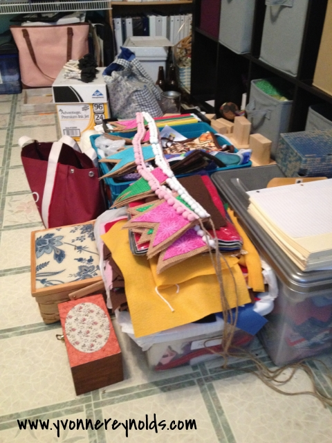 Craft room clutter!