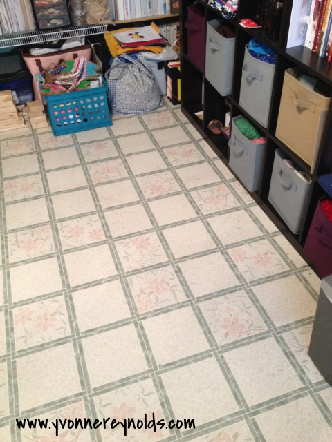 Decluttered craft room floor
