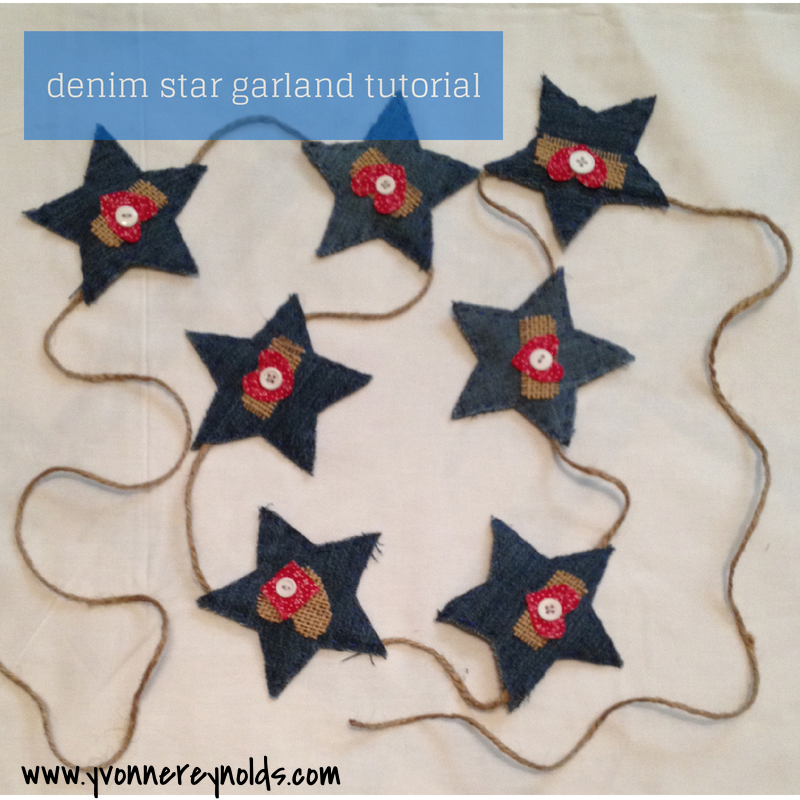 Denim star garland tutorial