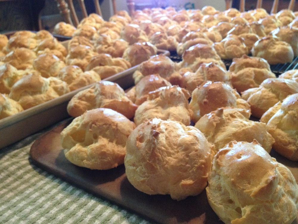 Here is a before photo of cream puffs...